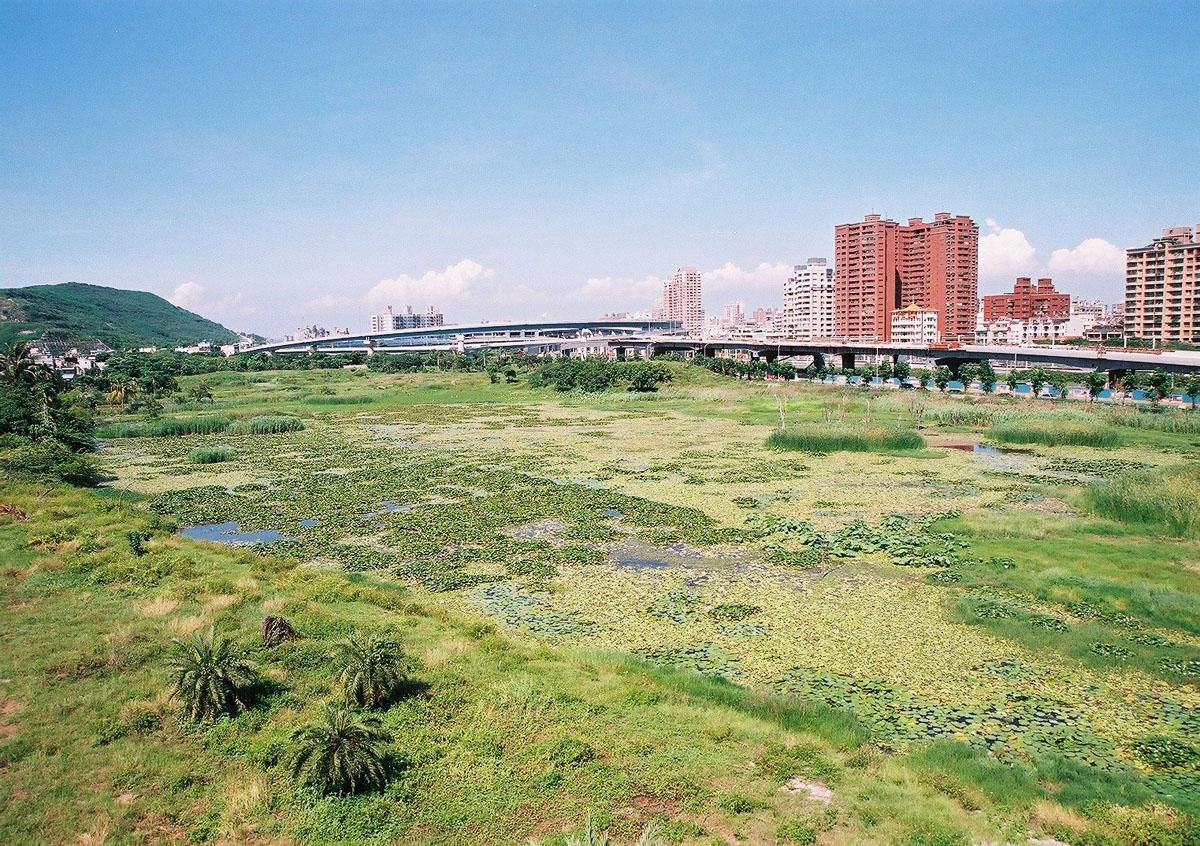 洲仔湿地公園の風光