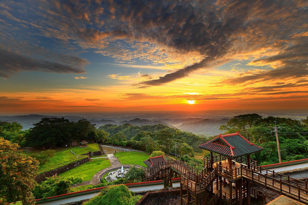 碧雲寺の夕日