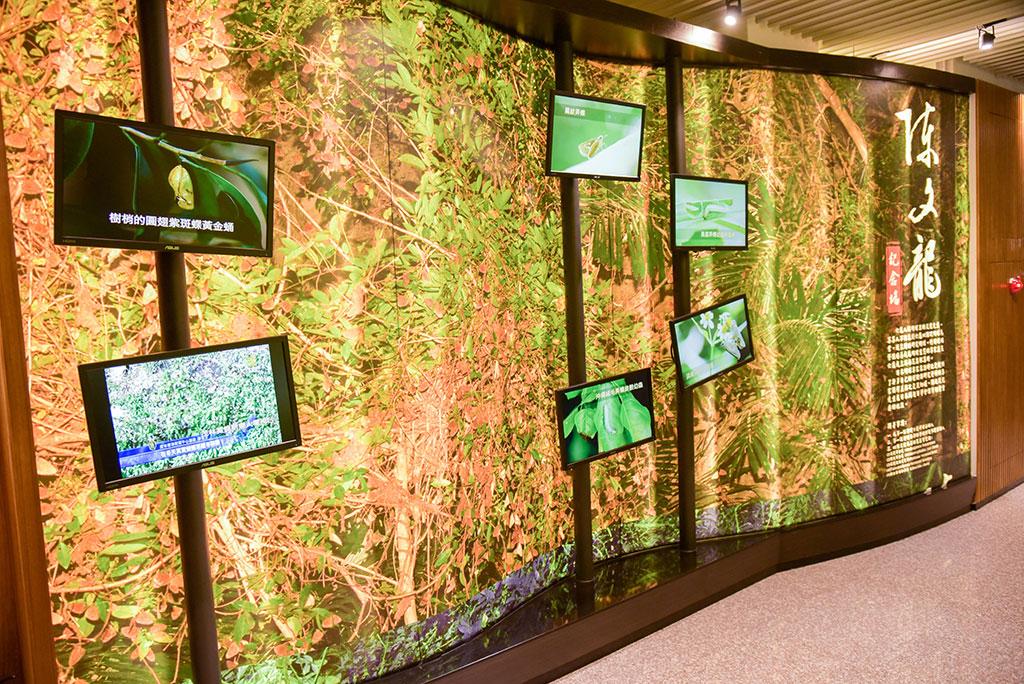 新威ビジターセンターの展示エリア