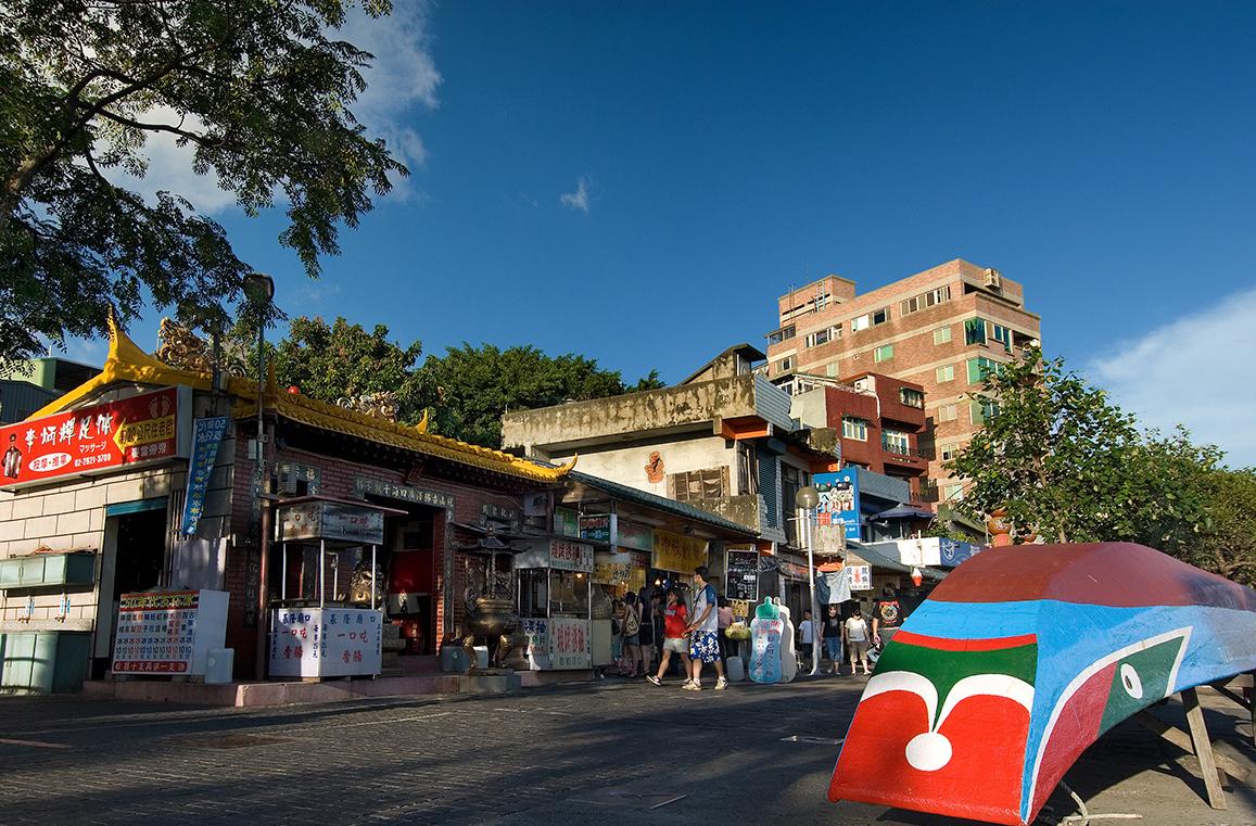 淡水商店街の景色