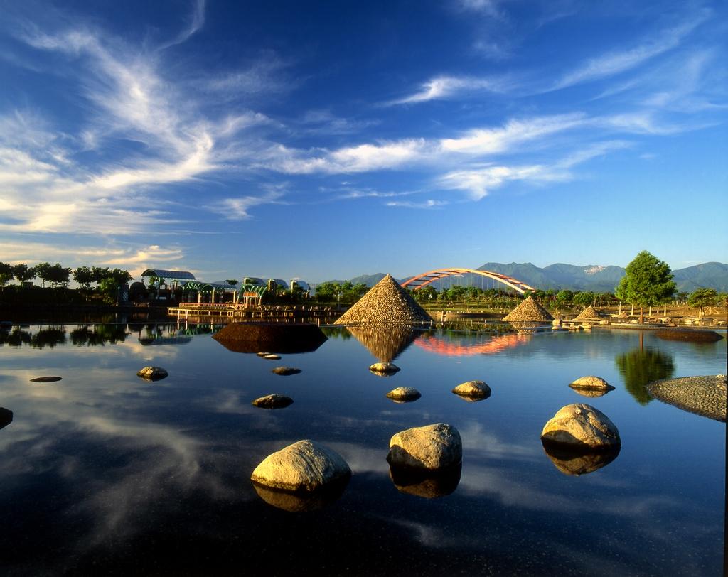 冬山河親水公園の風景