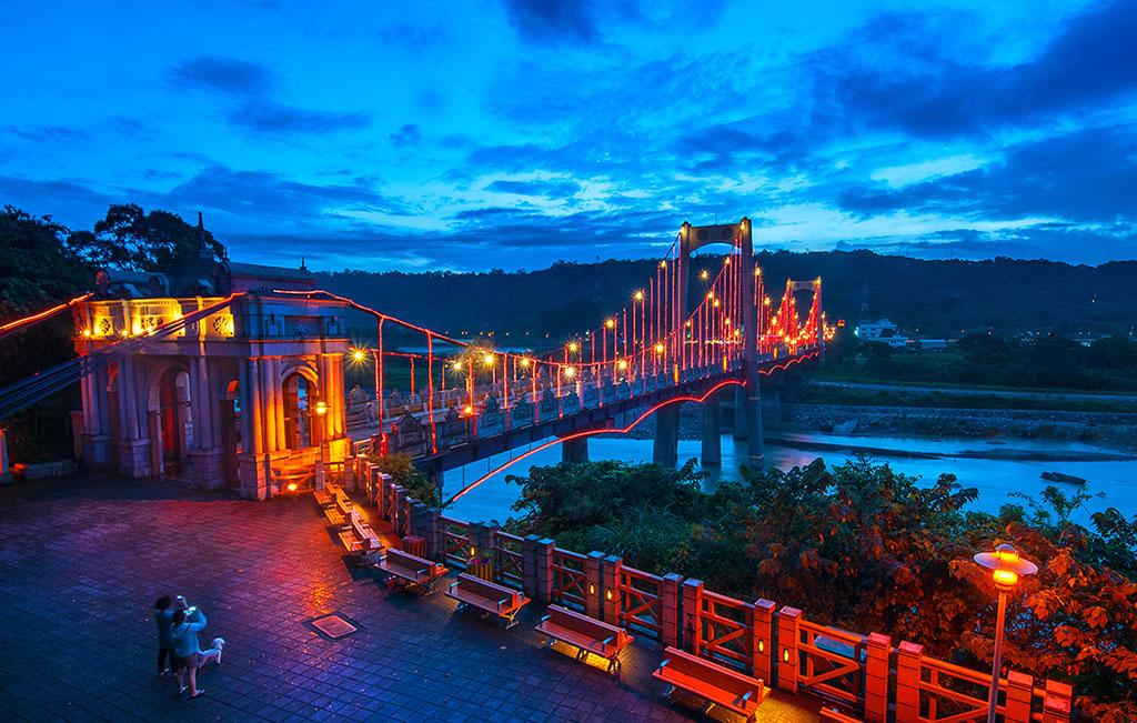 大渓橋の夜景