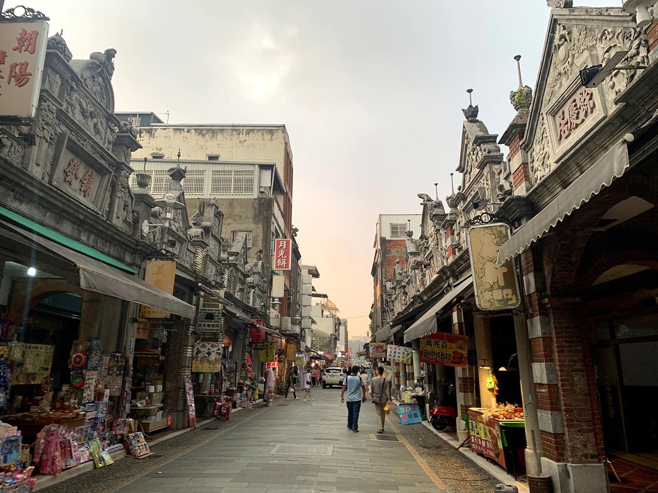 大渓老街の景色