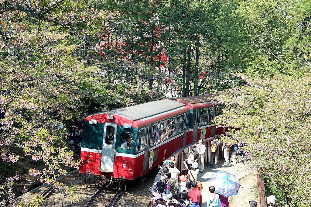 運行中の阿里山森林鉄道