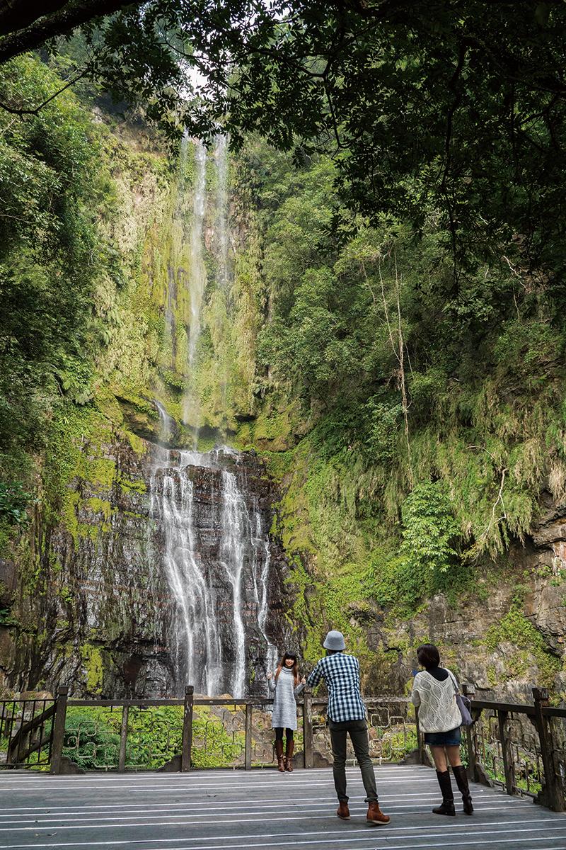 五峰旗滝の一番上の段