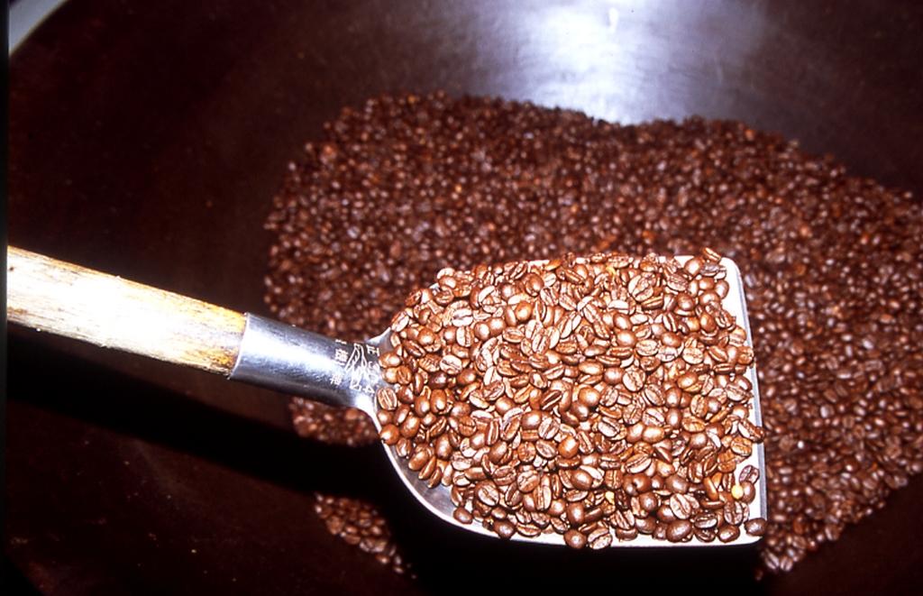 コーヒー豆を炒める