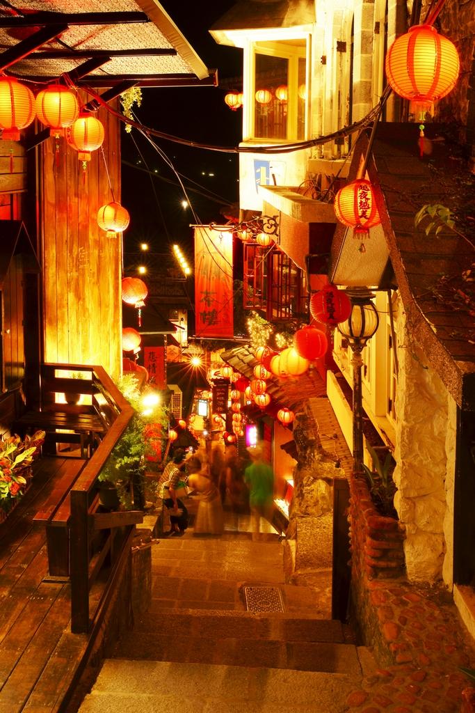 九份老街の夜景