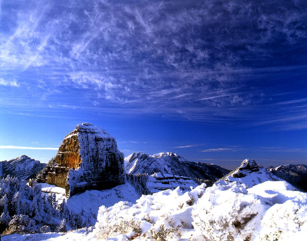 大小覇尖山の雪景色