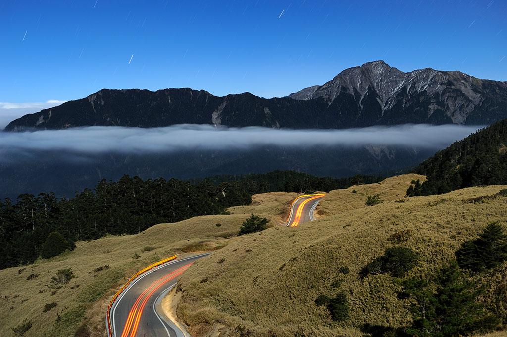 合歓山の道路