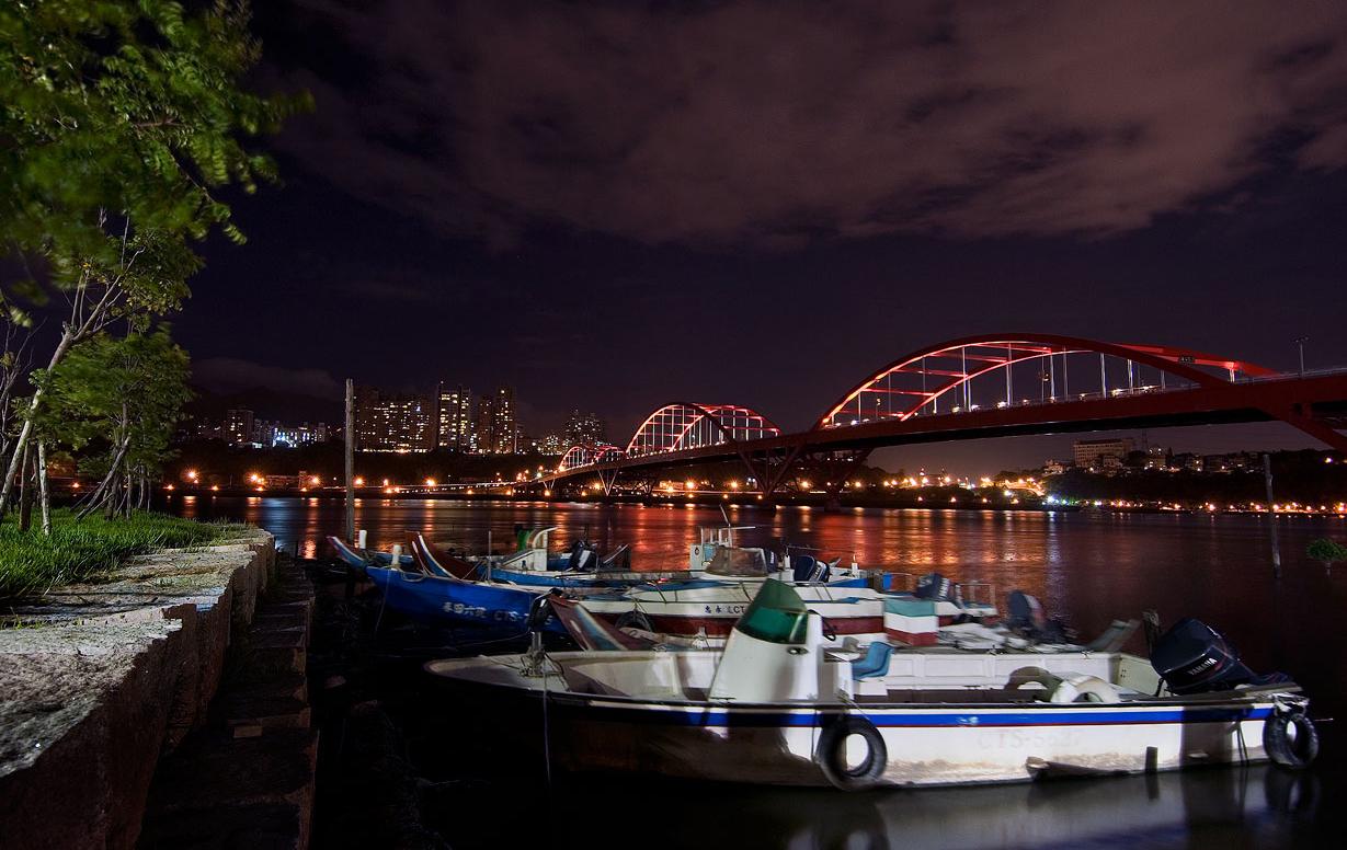 関渡埠頭の夜景