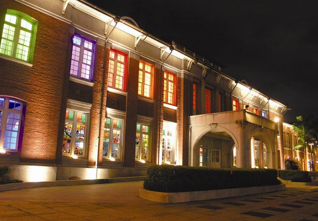 台北当代芸術館の夜景