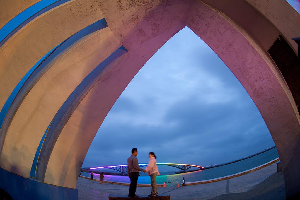 澎湖獅子紀念亭の夜景