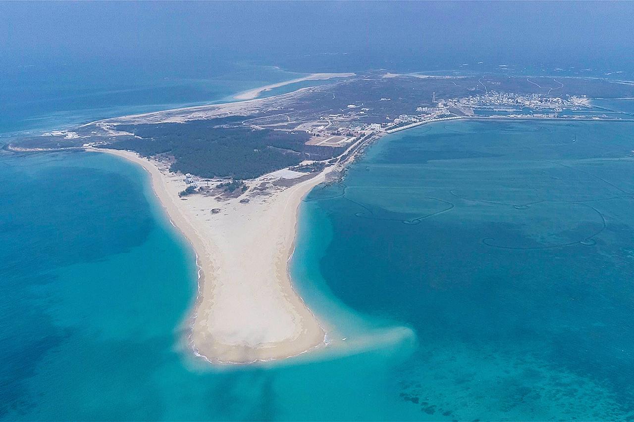 吉貝嶼のビーチ
