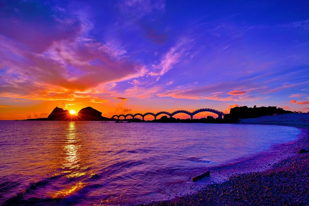 三仙台の夕景