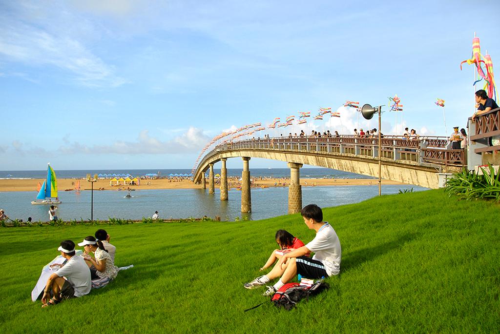 福隆海水浴場の風光