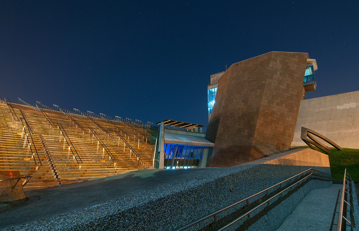十三行博物館の外観