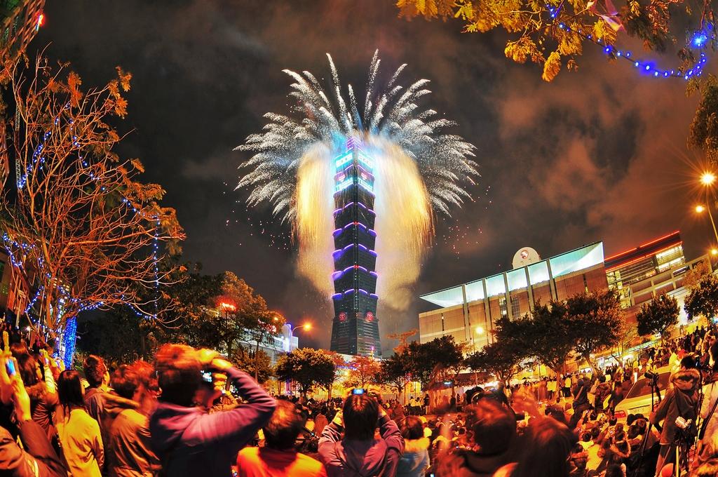 台北101の花火