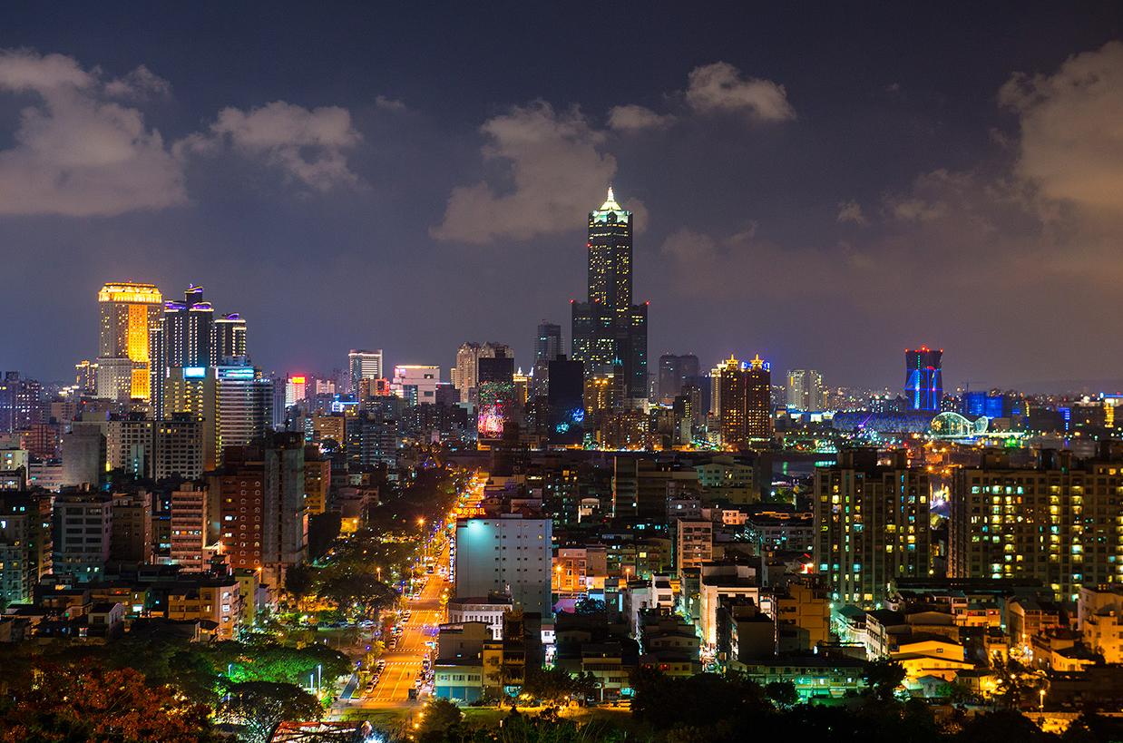 高雄港の夜景