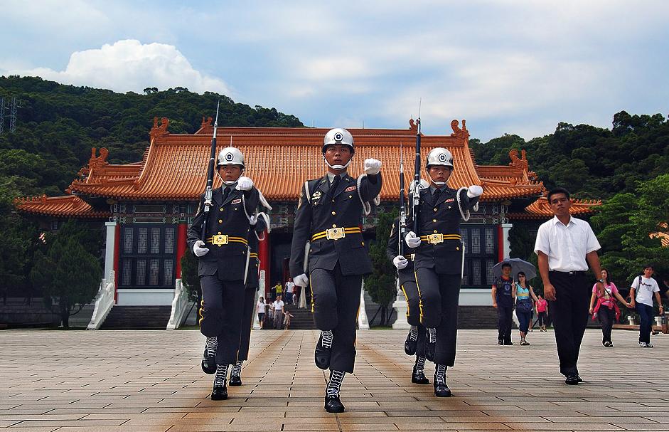 台北忠烈祠の衛兵交代式