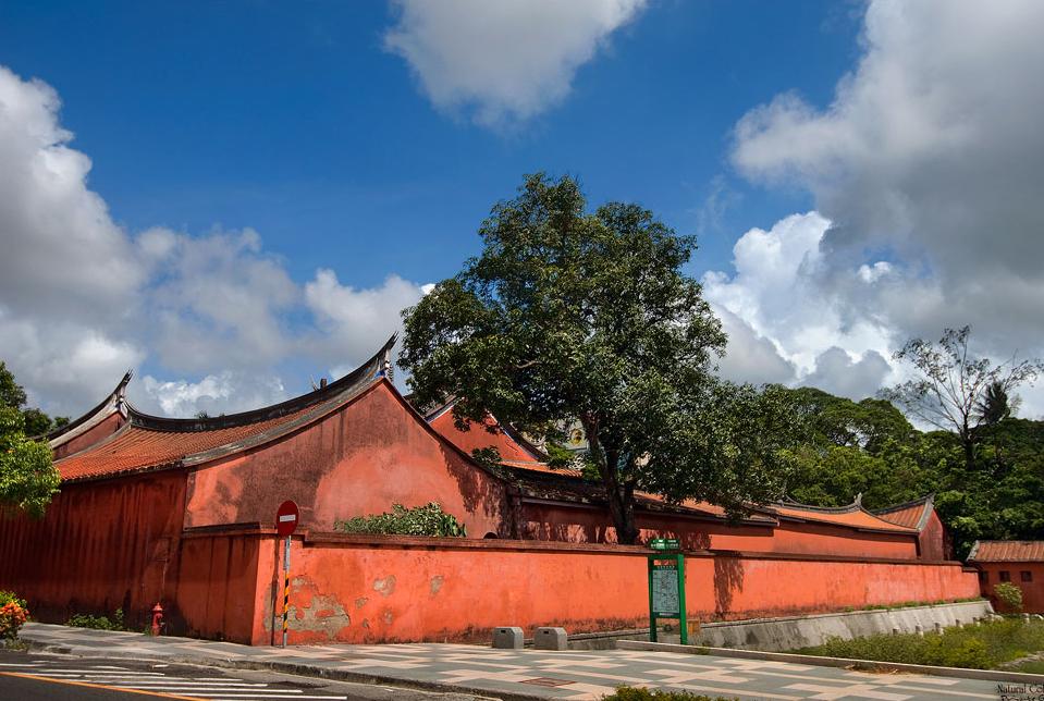 台南孔子廟の外壁