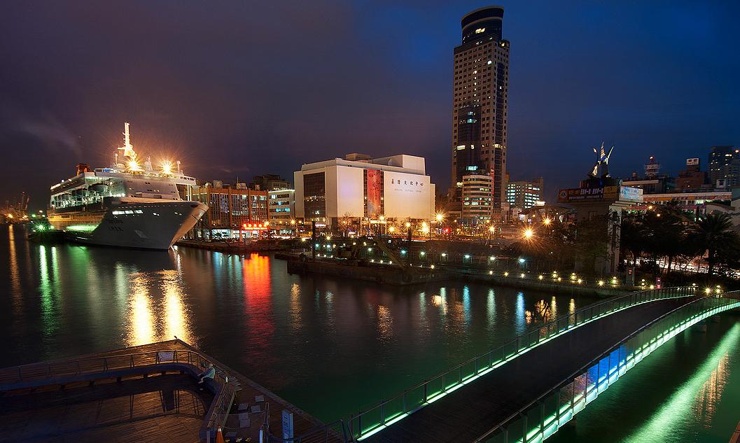 基隆港の夜景