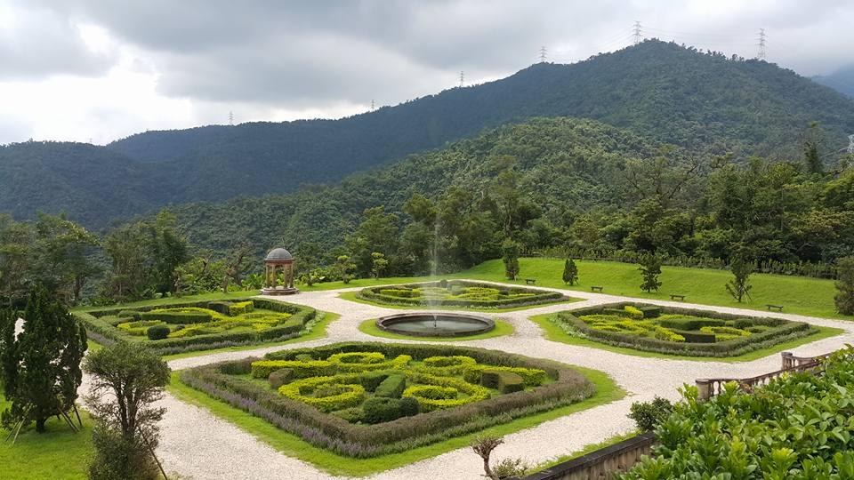 フランス式庭園-俯瞰図