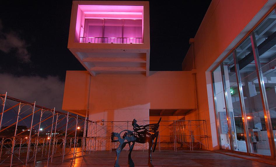 台北市立美術館の夜景