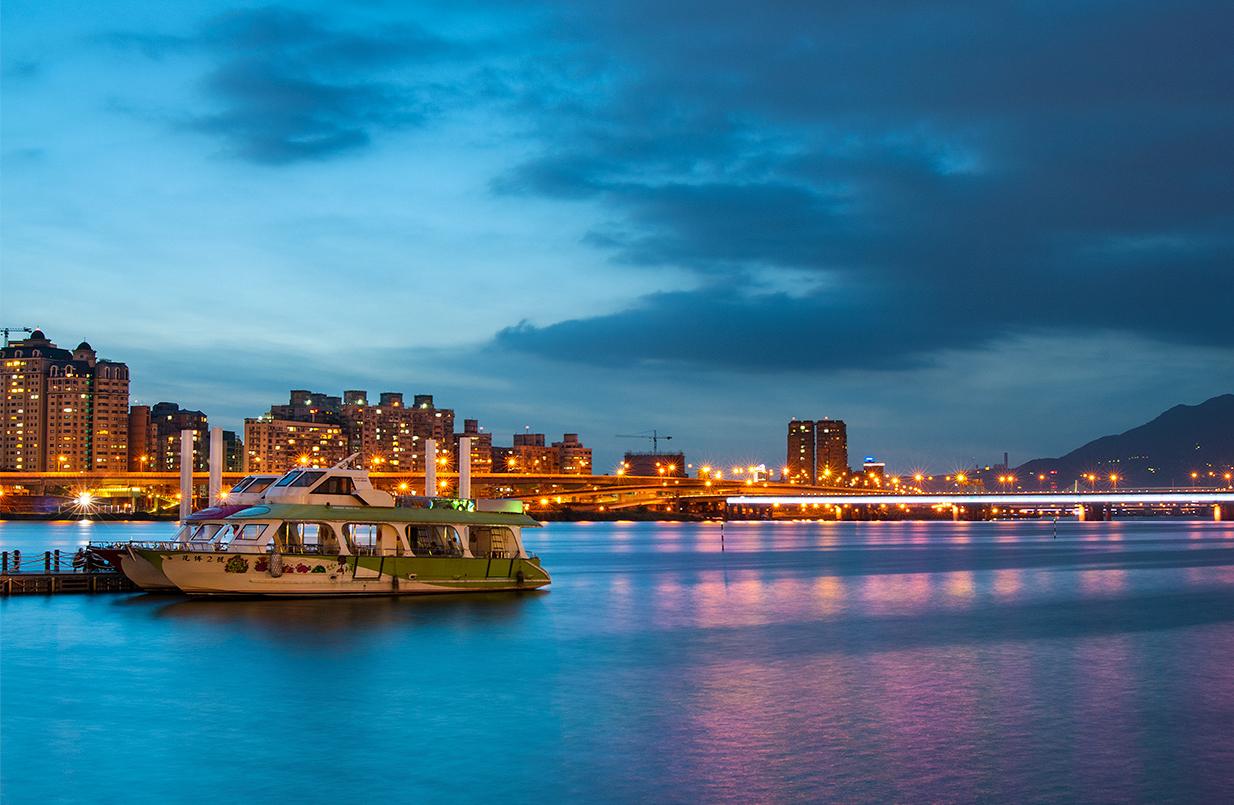 大稲埕埠頭の日暮れ