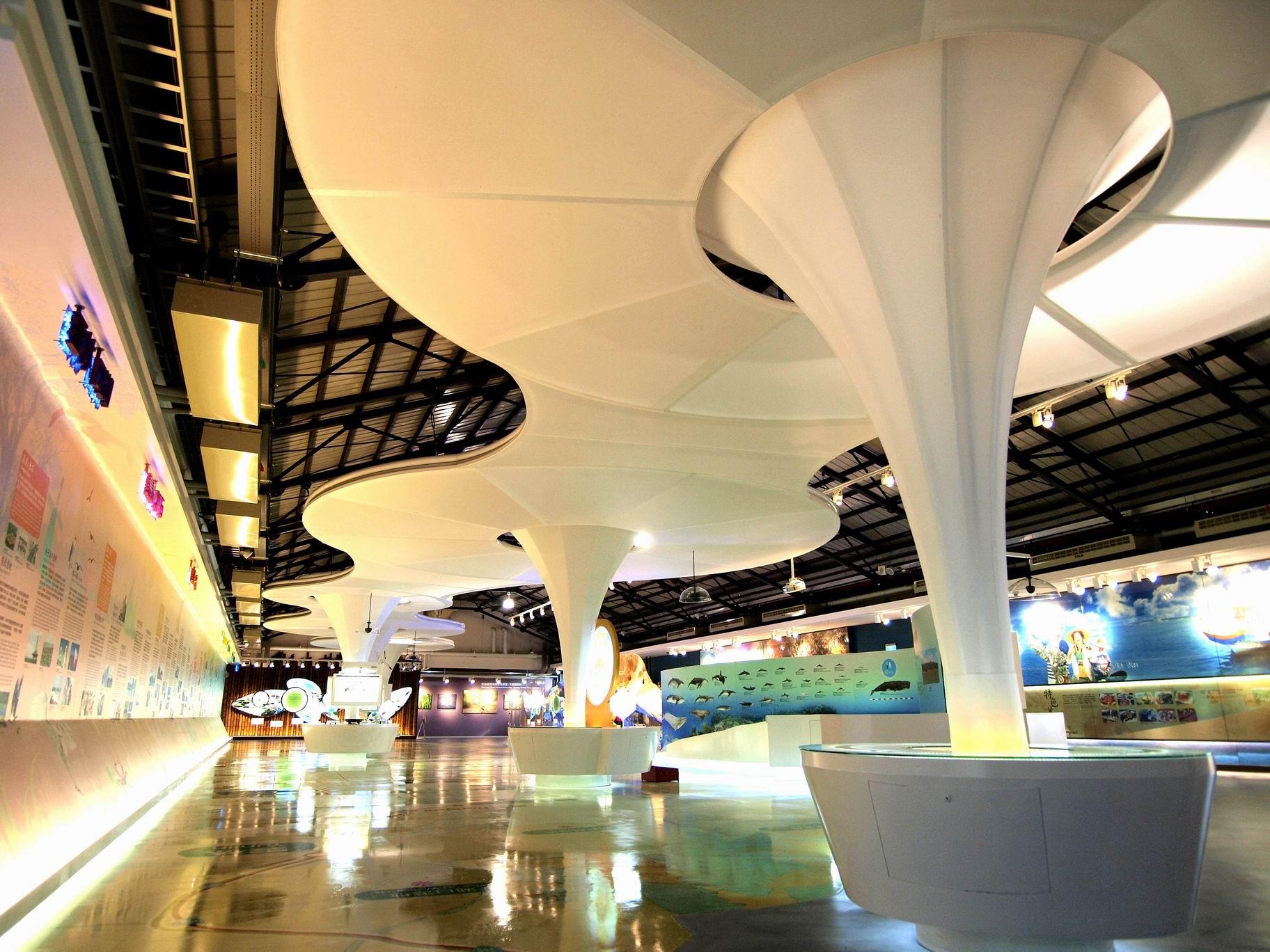 北門ビジターセンターの内部