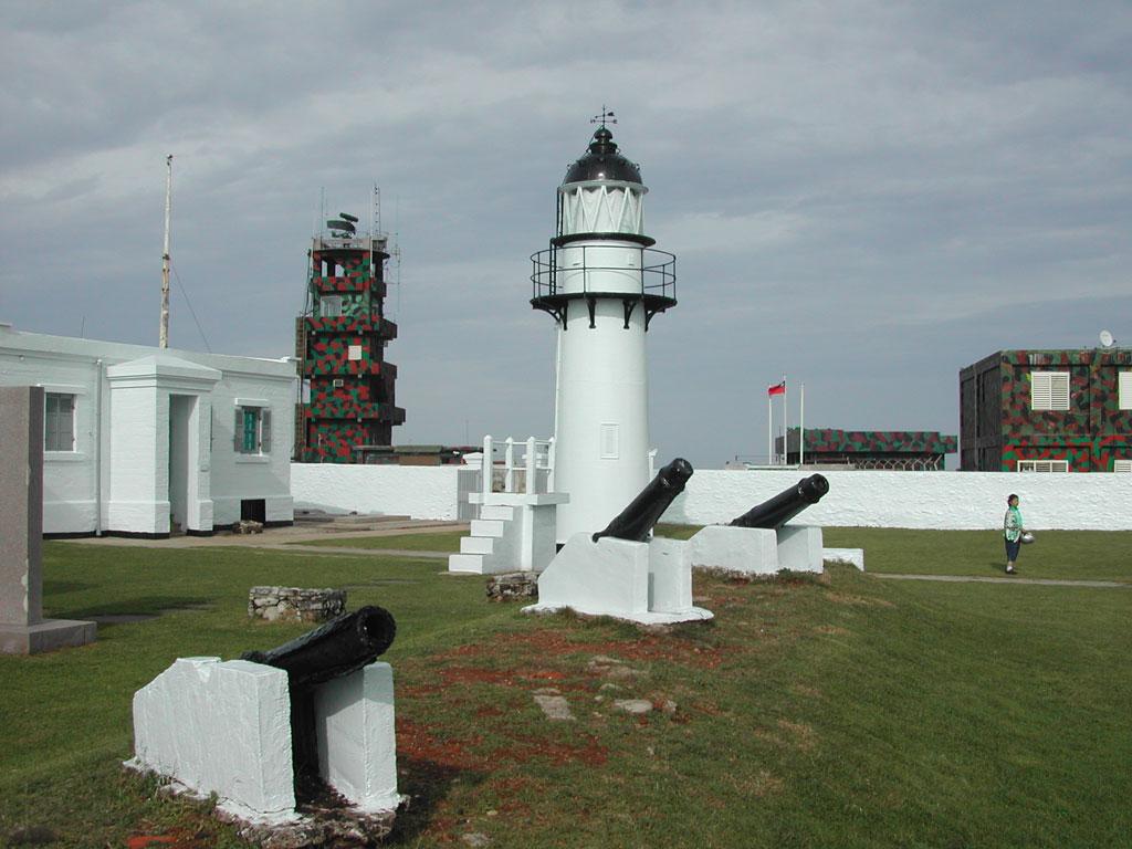 漁翁島灯台と砲台