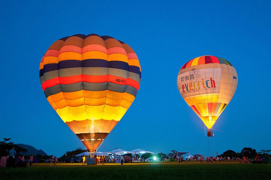 鹿野観光茶園 熱気球