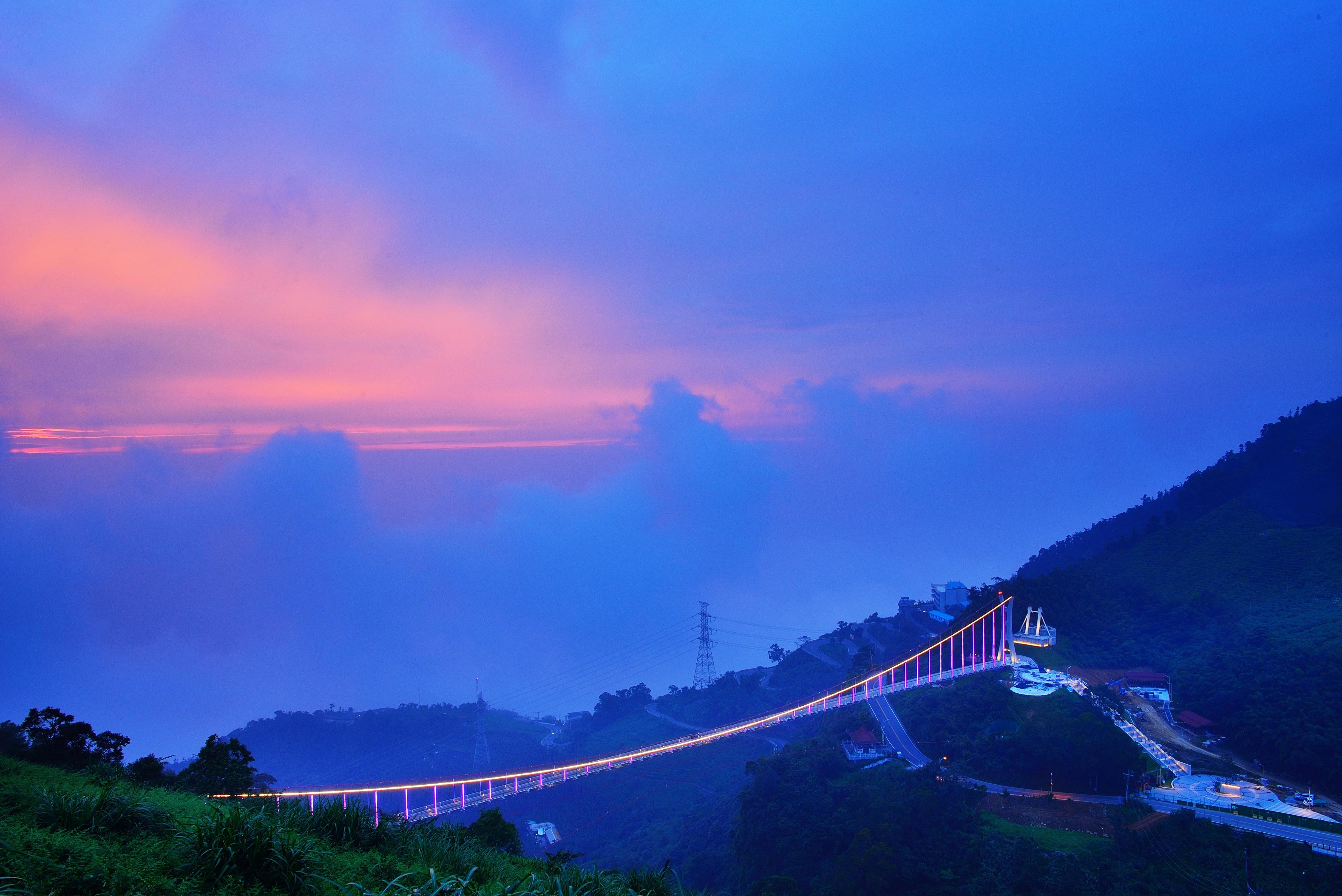 太平雲梯の夕日