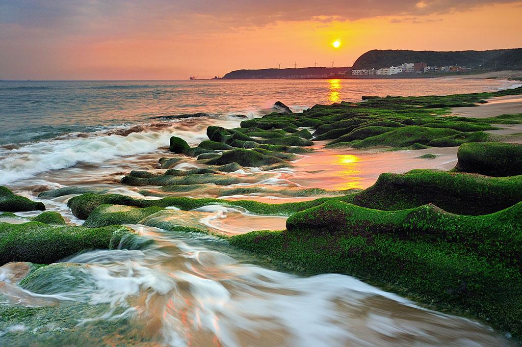 老梅緑石槽の美景