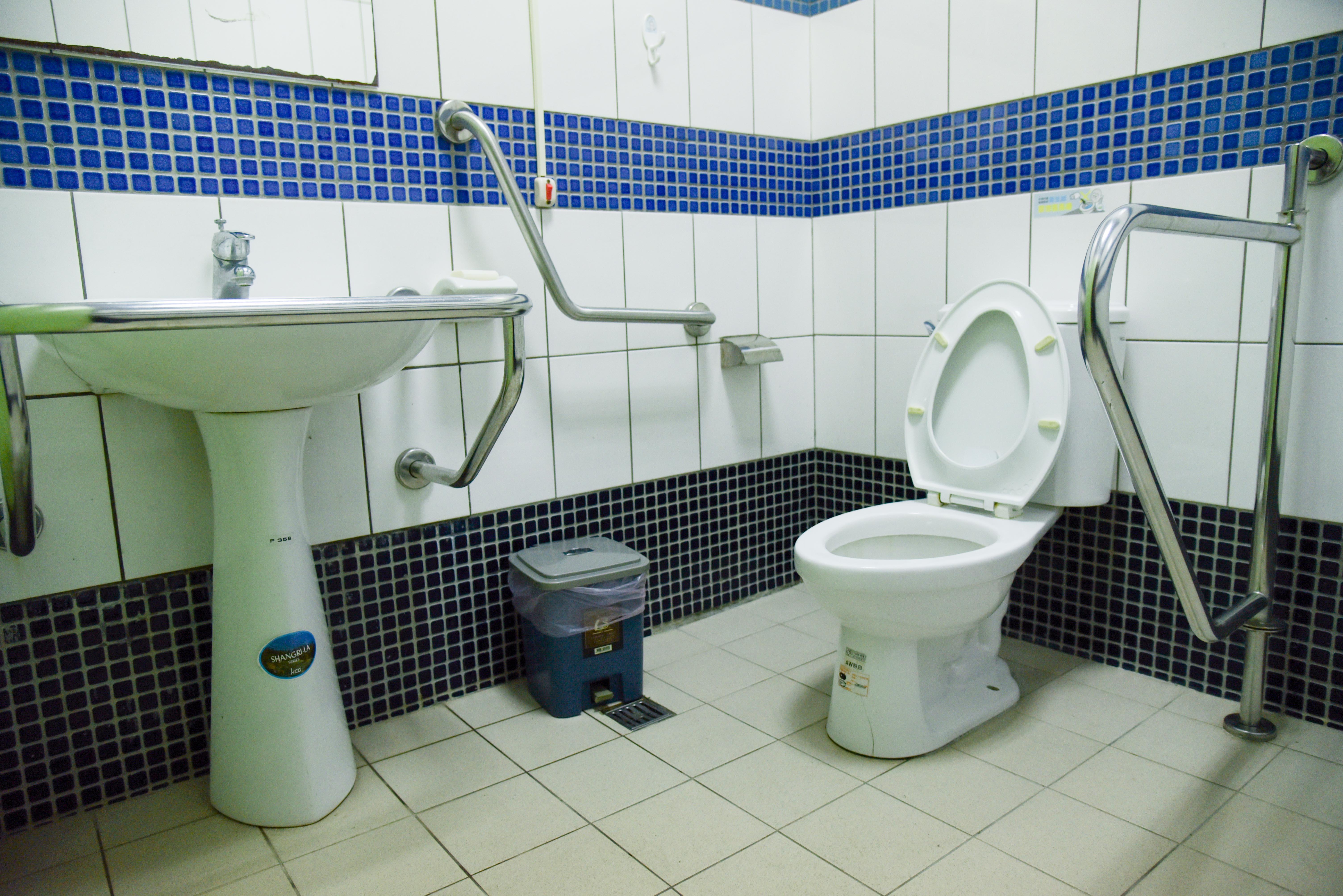 北埔国民小学校の車いす対応トイレの内部