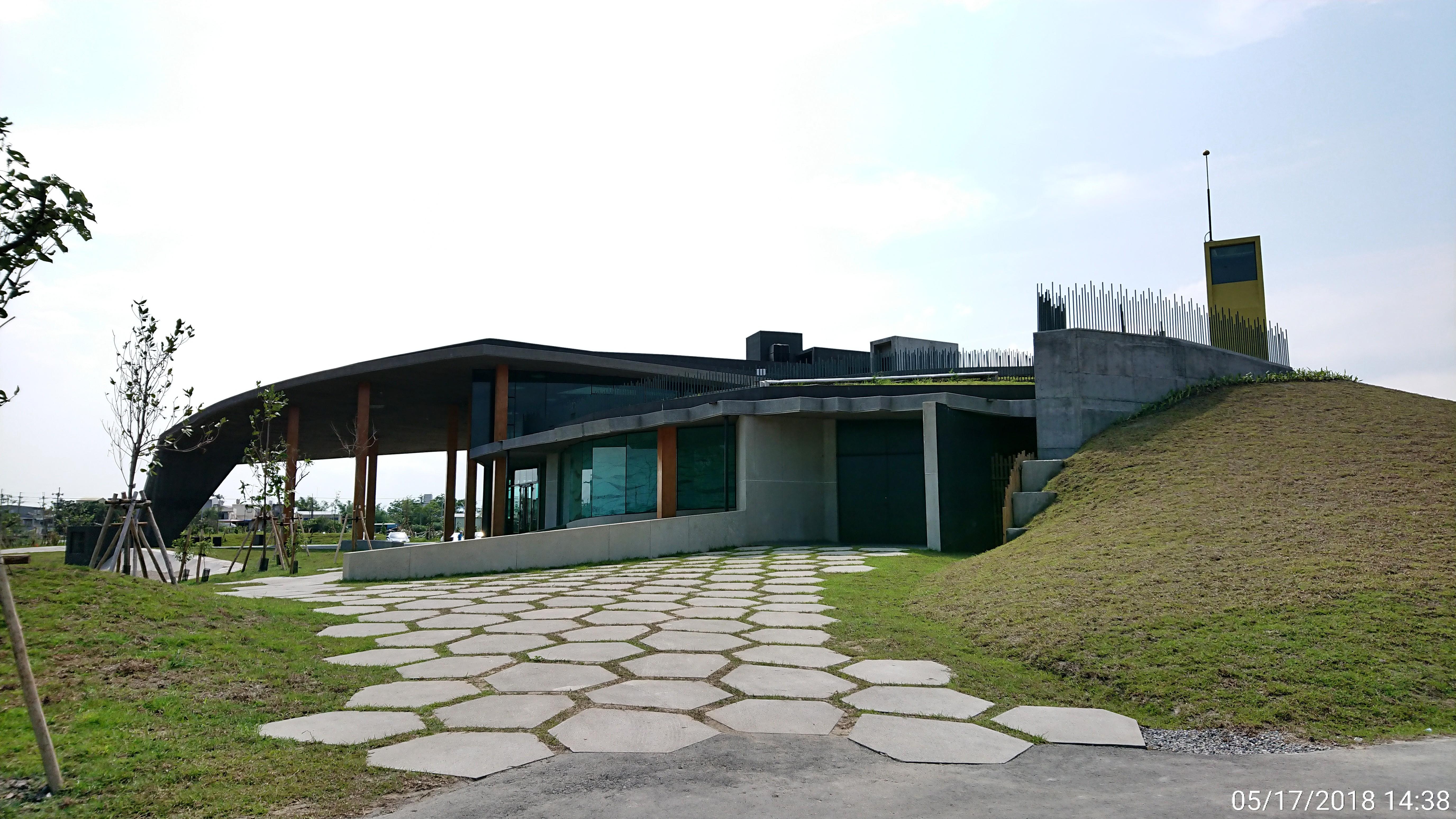 壯圍砂丘旅行サービスエリアの側面