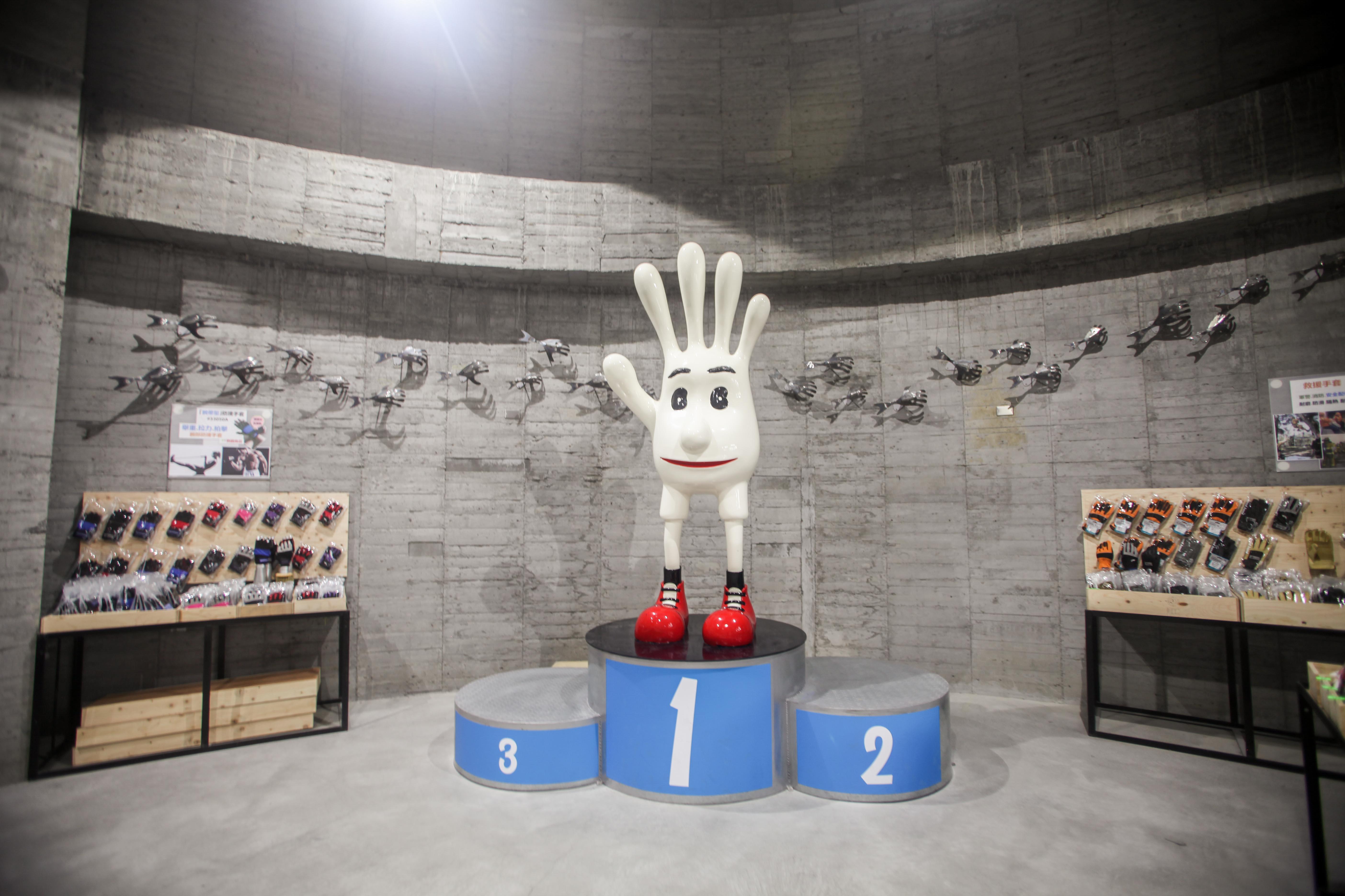 台湾手袋博物館館内のチェックインポイント