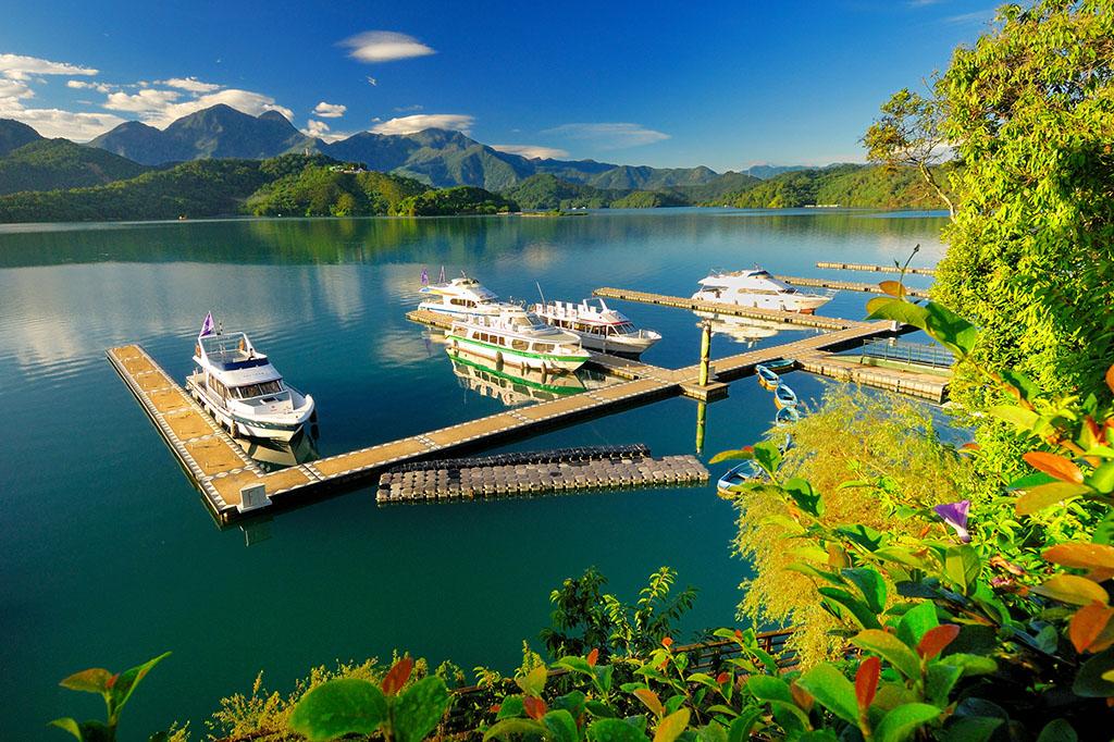 水社埠頭の美景