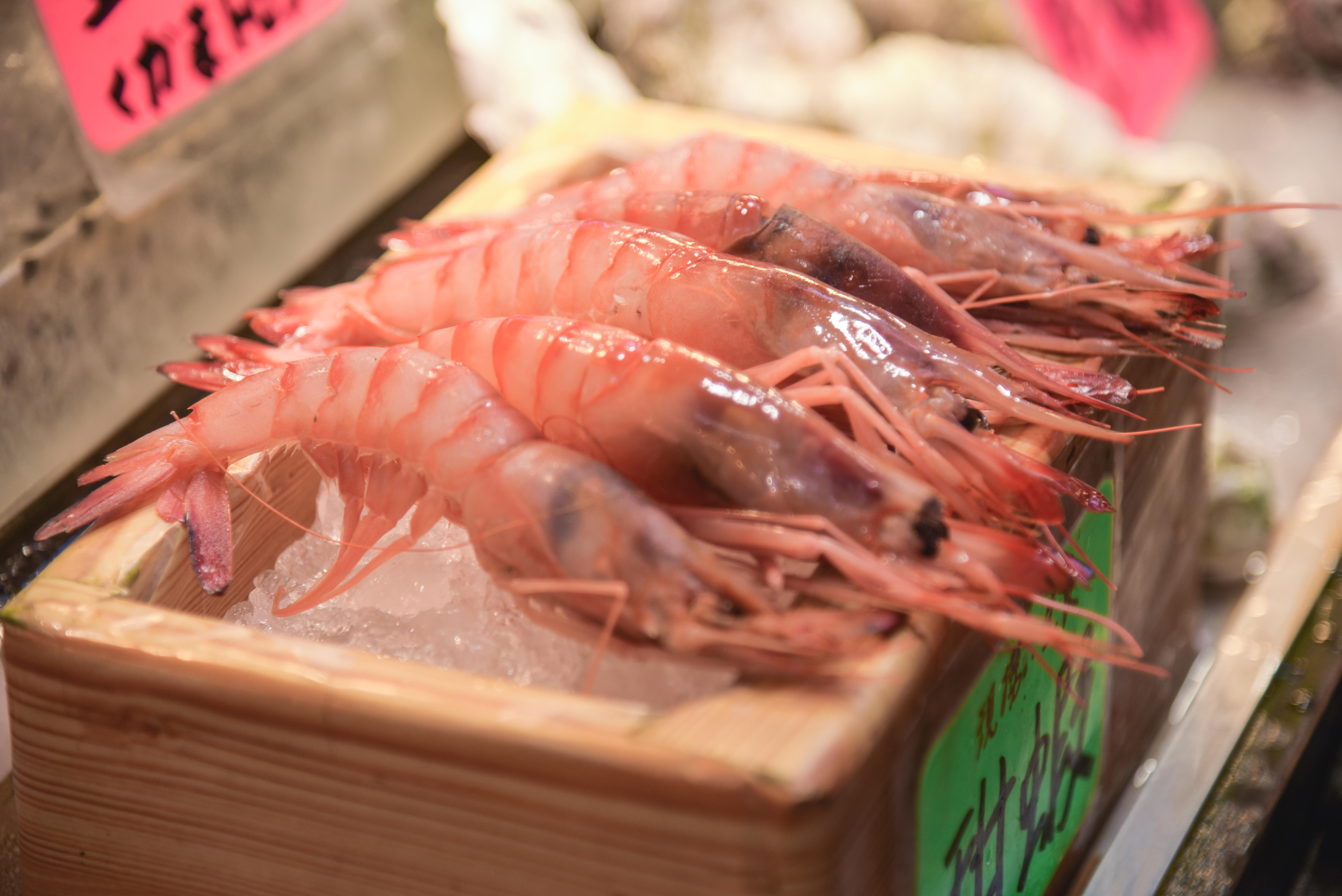 市場の海鮮
