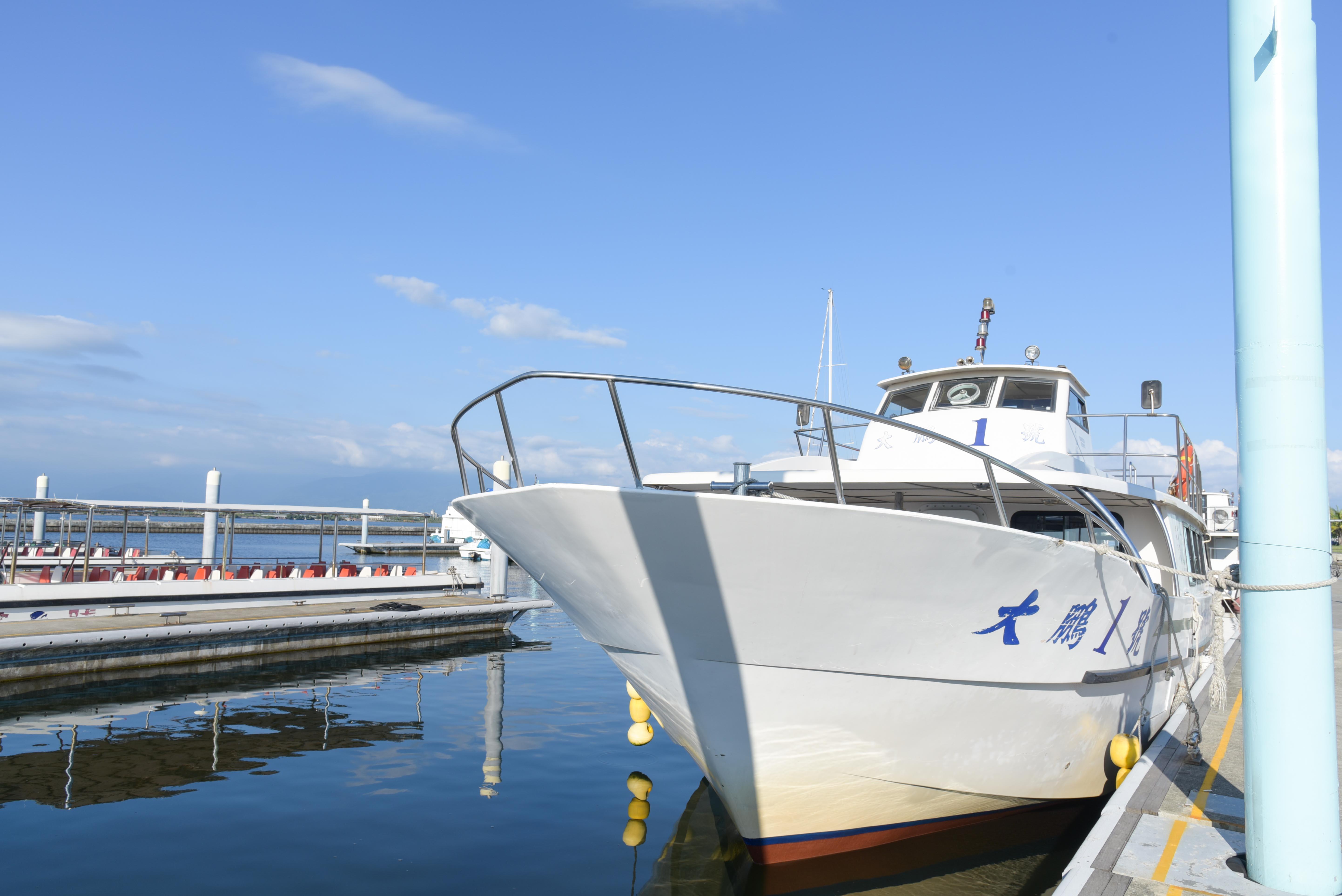 濱湾公園の遊覧船の外観