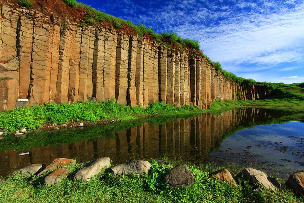 大菓葉柱状玄武岩