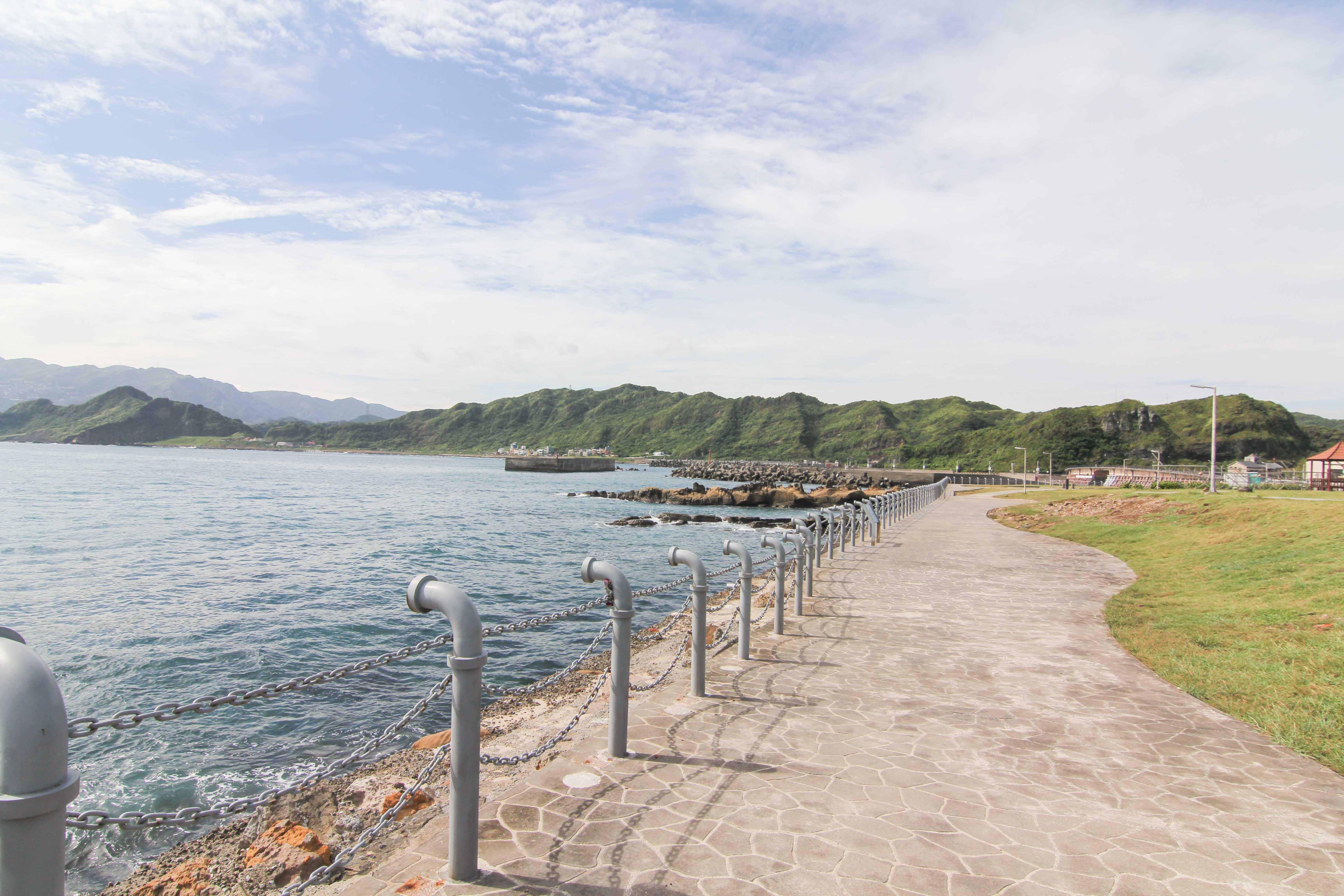 潮境公園の海浜歩道