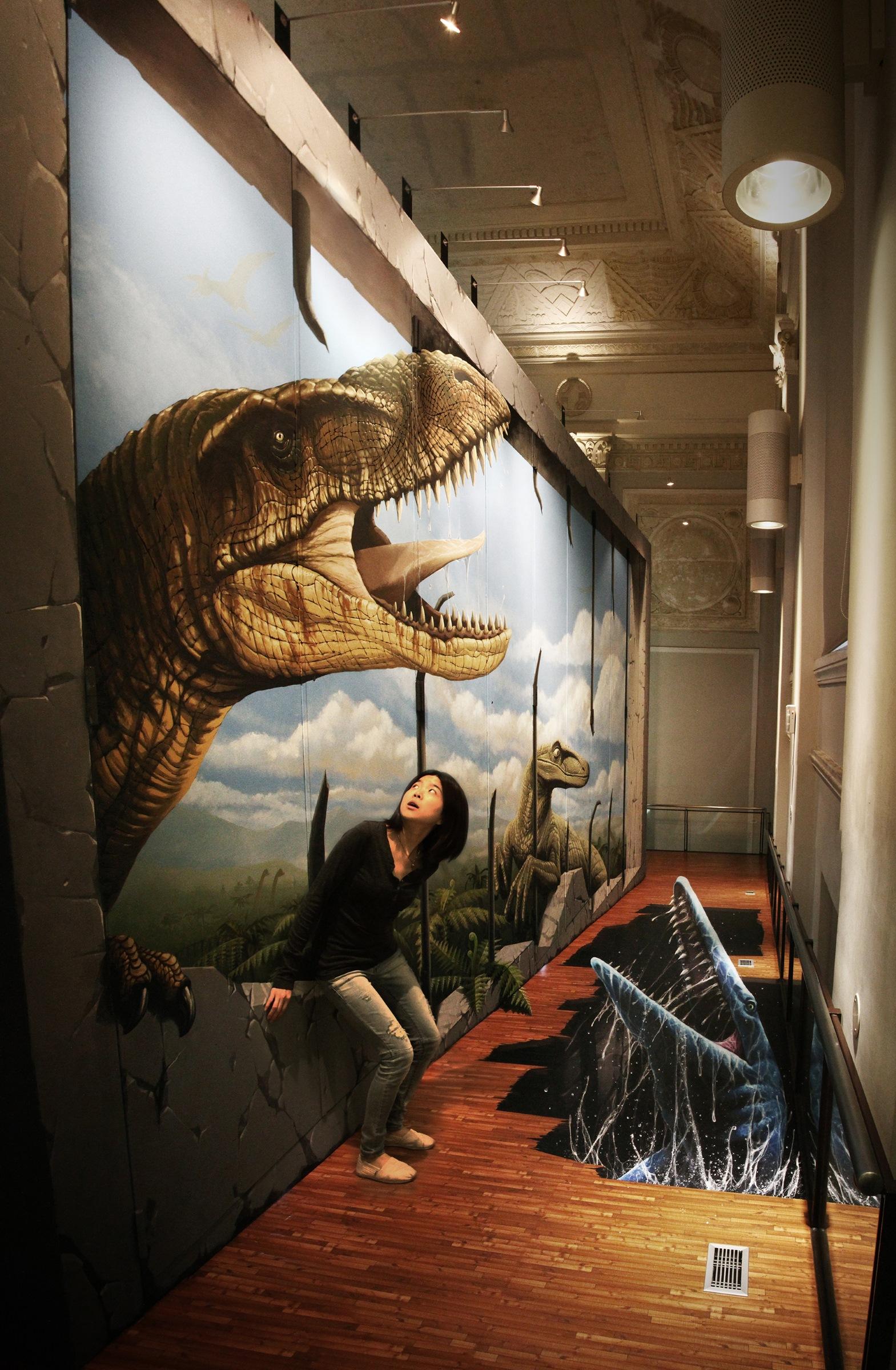 土銀展示館-3D恐竜