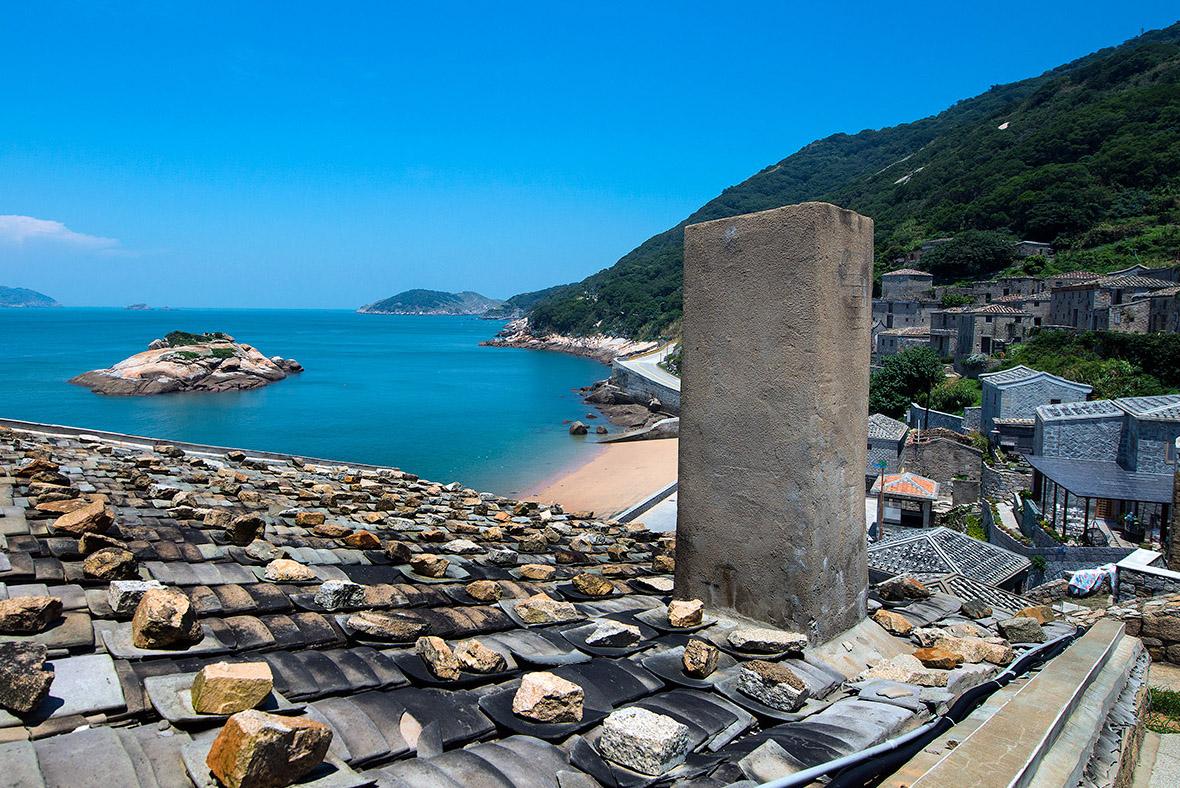 芹壁村 亀島