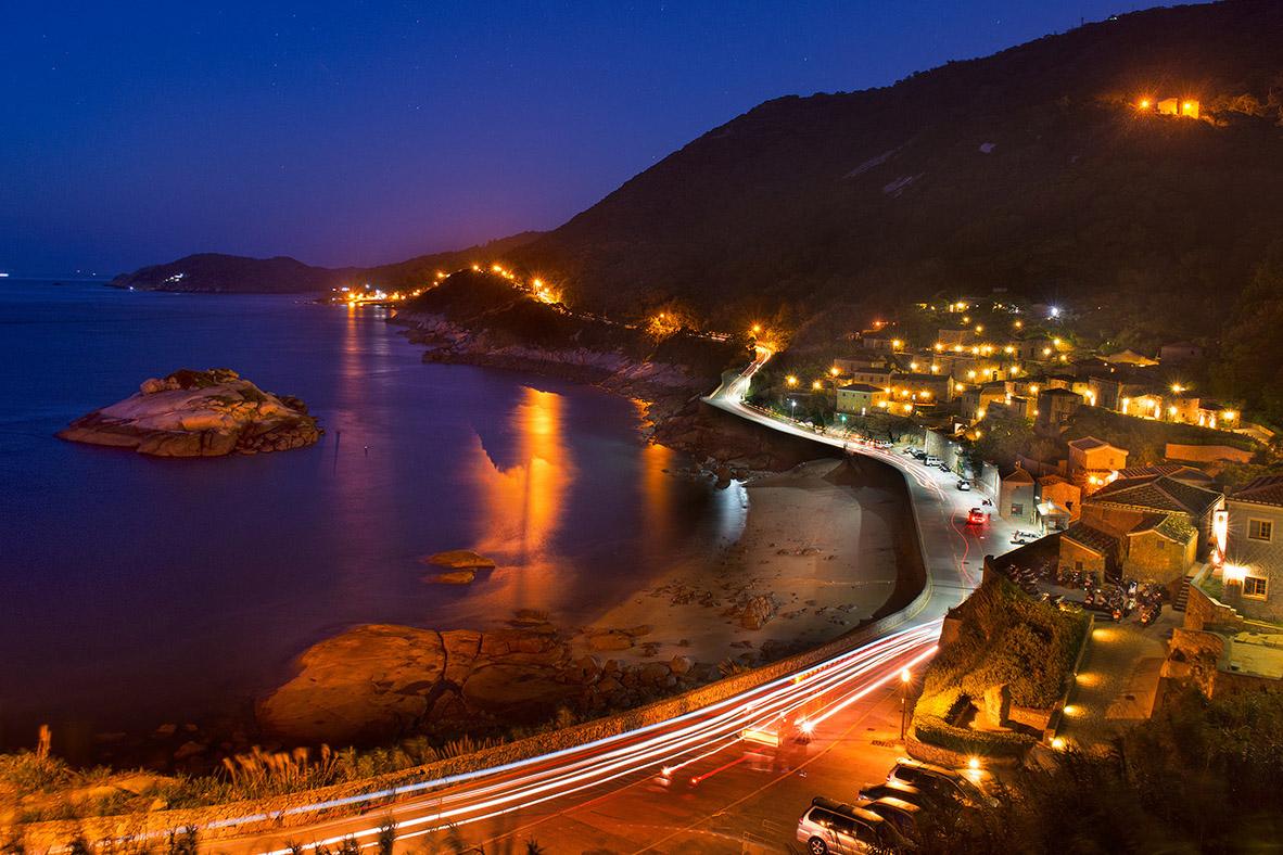 芹壁村 夜景