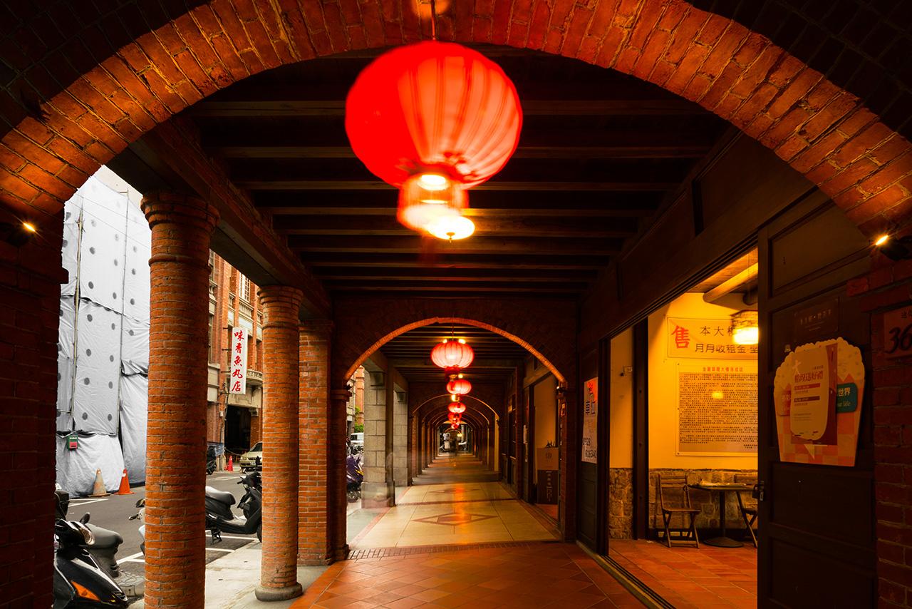 迪化街十連棟の廊下