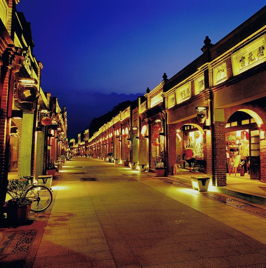 三峡老街の夜景