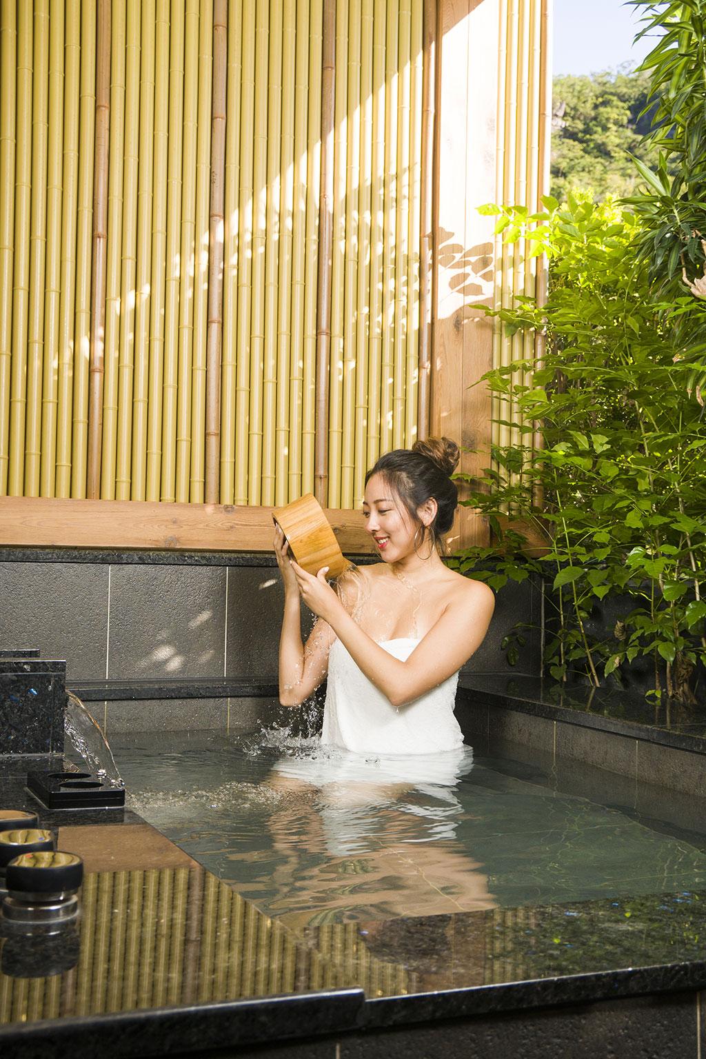 北投天然温泉的泉质促进美容养颜和身体健康