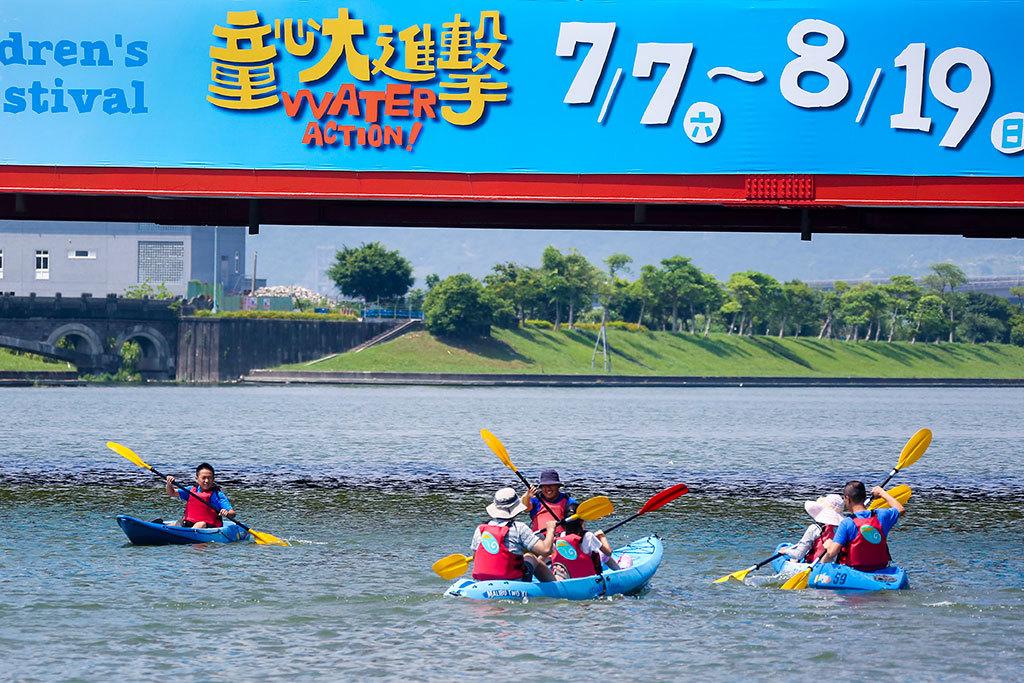 川エリア-カヌー面白レース