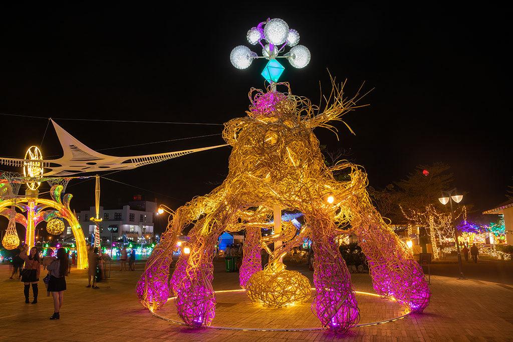 2019台湾ランタンフェスティバル輝かす30ランタンエリア