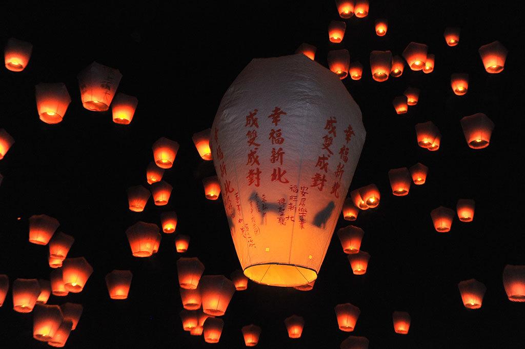 2018新北市平溪国際天灯祭り_元宵節01(新北市政府観光旅遊局提供)